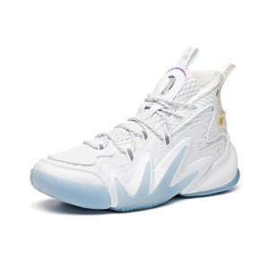 """Anta Shock The Game 4.0 """"Crazy Tide"""" Inherit 2020 Basketball Sneakers - White"""