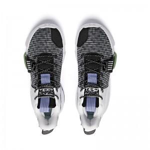 "Anta 2021 Shock The Game ""Daringly"" 2.0 Men's Basketball Shoes - Black/White/Green 112121610-1"