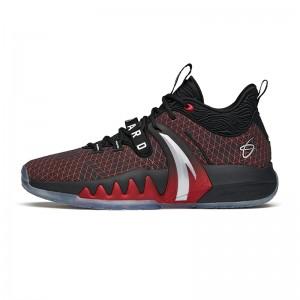 Anta GH2 Gordon Hayward 2021 Winter Men's Low Anta outdoor Basketball Sneakers - Black/Red/Silver