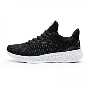 Anta 2017 Men's A-LIVEFOAM Cushioning Running Shoes - Black/White