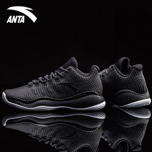Anta 2018 Men's A-SHOCK Stablizer Low Basketball Shoes - Black