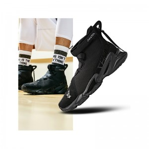 "Anta UNCEL FUN 1.0 SHOCK THE GAME Men's Basketball Shoes - ""Black Chivalrous"""