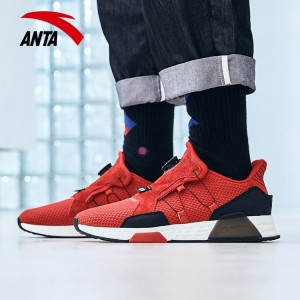 Anta 2018 Winter New Men's Cushioning Fashion Casual Shoes - Red