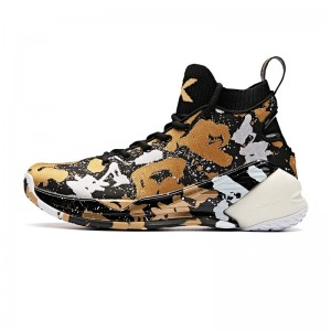 Anta 2019 Klay Thompson KT4 Men's Basketball Shoes - Gold/Black [11911101-14]