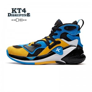 "Anta Klay Thompson KT4 ""Disruptive"" Men's High Tops Basketball Shoes - Blue/Yellow"