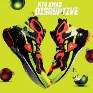 """Anta Klay Thompson KT4 XMAS """"Disruptive"""" Basketball Shoes Gift Pack"""