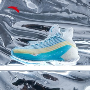 Anta 2019 Klay Thompson KT4 Men's High Tops Basketball Shoes - Ice Blue/White