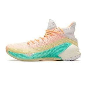 Anta 2019 KT4 Klay Thompson Men's High Tops Basketball Shoes - Yellow/Orange/Blue