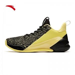 Anta 2019 Klay Thompson KT4 Low Men's Basketball Shoes - Black/Yellow