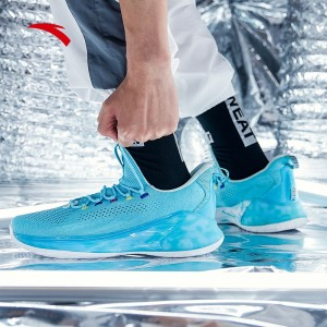 Anta 2019 Spring KT4 Klay Thompson Light Low Basketball Shoes - Ice Blue/White