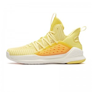 Anta 2019 KT4 Splash Klay Thompson Men's Mid Basketball Shoes - Yellow/Orange