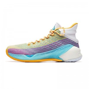 Anta 2019 Summer New Klay Thompson KT4 Final Basketball Sneakers - Purple/Yellow/Blue