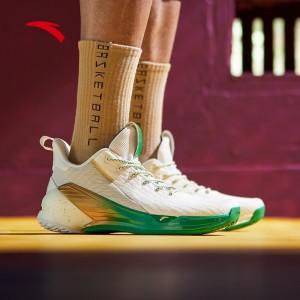 2019 Summer New Anta Gordon Hayward KT4 NBA Low Basketball Sneakers - White/Green