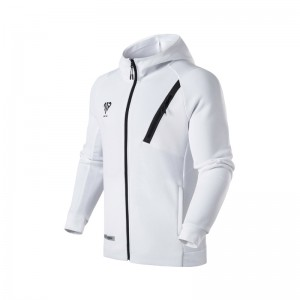 Anta 2018 MP Manny Pacquiao Full Zip Slim Fit Hoodie - White