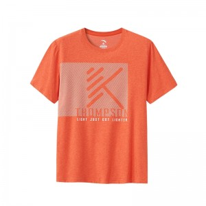 Anta 2019 KT Klay Thompson Men's Basketball T-shirts - Orange