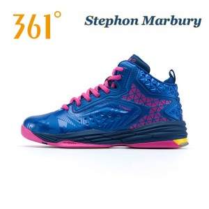 Stephon Marbury Professional Basketball Shoes - Blue/Pink