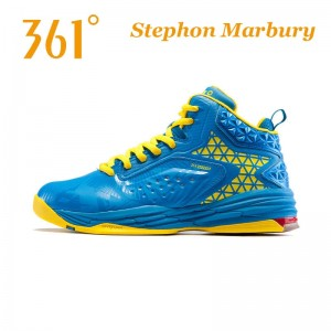 Stephon Marbury Professional Basketball Shoes - Blue/Yellow