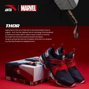 "Anta X Marvel ""THOR"" Running Shoes Anta SEEED Running Sneakers"