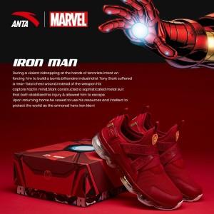 "Anta X Marvel ""IRON MAN"" Running Shoes Anta SEEED Running Sneakers"