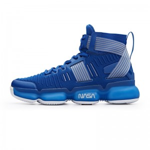 Anta x NASA Seeed Series Men's Professional High Top Basketball Sneakers - Blue