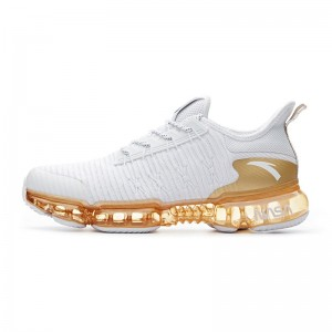 """2018 Anta x NASA SEEED Series """"Zero Bound"""" Men's Sports Fashion Sneakers - White/Gold"""