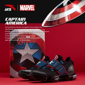 "Anta X Marvel ""CAPTAIN AMERICA"" Running Shoes Anta SEEED Running Sneakers"