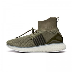 Anta 2018 Winter Wormhole Men's Sock-Like Running Shoes - Green/Black/White