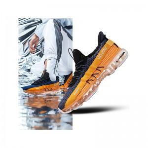 Anta X SEEED 2019 Spring New Men's Air Cushion Running Shoes NASA Casual Sneakers - Blue/Orange