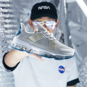 2019 New Anta X SEEED Pilotage 领航 Air Cushion Running Shoes | Anta Sneakers - Grey/Blue