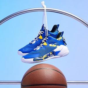 Anta KT 2020 Klay Thompson KIDS Basketball Shoes - Blue/Yellow/White