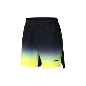 Li-Ning 2018 BWF World Badminton Championships Men's National Team Game Shorts - Black [AAPN005-2]