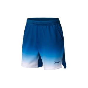 Li-Ning 2018 BWF World Badminton Championships Men's National Team Game Shorts - Blue [AAPN005-3]