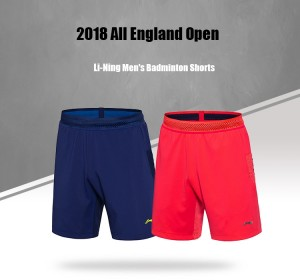 2018 All England Open lining National Badminton Team Men's Shorts