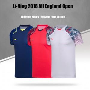 Li-Ning 2018 All England Open TD lining Men's Tee Shirt Fans Edition