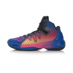 Li-Ning 2017 Phantom Flyer Mens Professional Basketball Shoes - Blue/Pink/Black