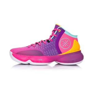Li Ning 2017 Wade The Sixth Man II Men's Basketball Shoes - Pink/Purple/Blue