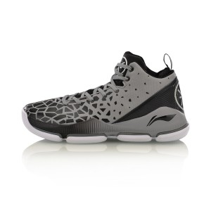Li-Ning 2017 Wade Men's FISSION III Professional Basketball Shoes - Grey/Black/White