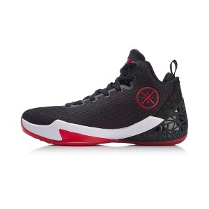 Li-Ning 2018 Wade Fission IV 4 Men's Professional Basketball Sneakers - Black/Red