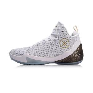 Li-Ning 2018 Summer Wade Fission IV 4 Men's Professional Basketball Sneakers - White/Black