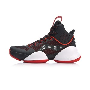 "Li-Ning 2018 ""空袭 kōng xí "" Strike V Men's Hight tops Bounse Basketball Game Sneakers - Black/Red [ABAN045-4]"