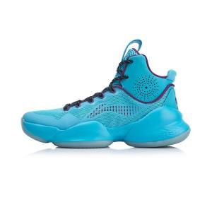 Li-Ning Power-V C.J. McCollum Cushion High Tops Professional Basketball Sneakers - Blue/Purple