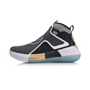 Li-Ning YuShuai XII 12 C.J. McCollum Men's High Tops Professional Basketball Sneakers - Black ABAN049-2