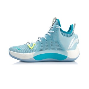 Li-Ning 2019 New Sonic VII C.J.McCollum Professional Basketball Shoes - Blue/White