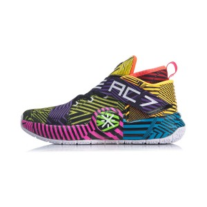 Way of Wade All City 7 Men's Basketball Shoes - Black/Yellow/Purple