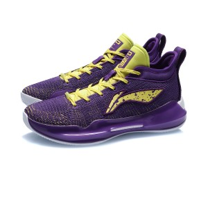 Li-Ning 2020 YUSHUAI XIII 13 BOOM Low Men's Professional Basketball Game Sneakers - Purple/Yellow