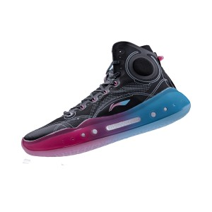 "Li-Ning 2021 YUSHUAI XIV 14 BOOM ""Miami Nights"" Men's Professional Basketball Competition Sneakers - Black/Pink/Blue"