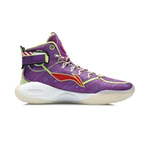 Disney TOY Story X Li-Ning Yushuai XIV Men's High Top Basketball Game Shoes - Purple