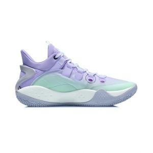 Li-Ning 2021 Sonic 9 Low Men's Professional Basketball Sneakers - Purple/Green