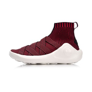 2018 Li-Ning Wade X Essence High Top Men's Stylish Basketball Culture Shoes - Red/Black [ABCM067-4]