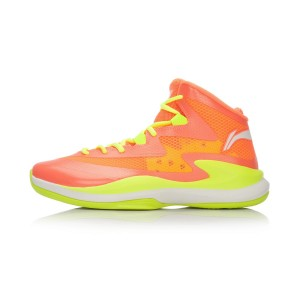 Li-Ning Ultra Light 13 High Cut Mens Outdoor Basketball Shoes - Fluorescent Orange/Fluorescent Green